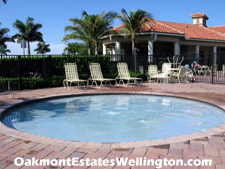 Oakmont Estates youngest residents have their own wading pool in which to splash around.
