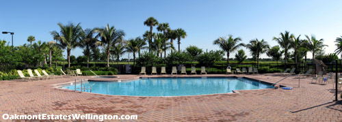 main swimming pool at Oakmont Estates in Wellington, FL