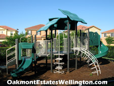 A tot-lot is located beside the Oakmont Estates clubhouse to provide a safe environment for residents children to play in.